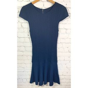 New Alice + Olivia Employed Wool Cable Knit Dress